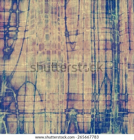 Old texture with delicate abstract pattern as grunge background. With different color patterns: brown; blue; purple (violet) - stock photo