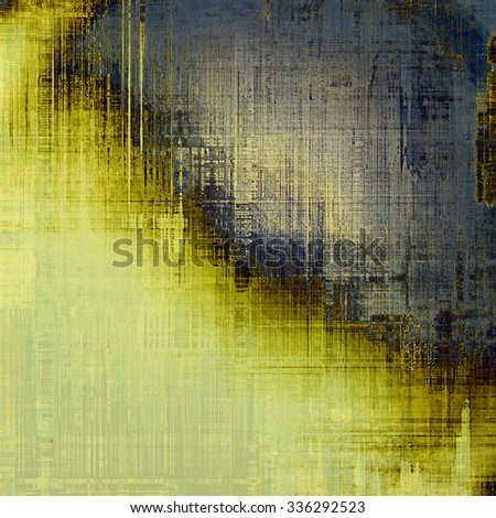 Old texture with delicate abstract pattern as grunge background. With different color patterns: yellow (beige); brown; blue; gray - stock photo