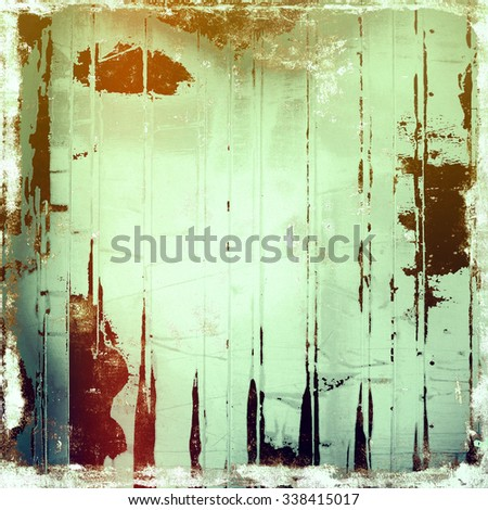 Old Texture. With different color patterns: yellow (beige); brown; blue; green - stock photo