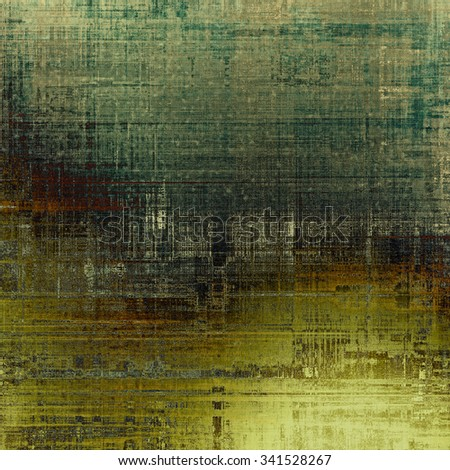 Old Texture. With different color patterns: yellow (beige); brown; gray; green - stock photo