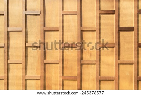 Old Thai style wooden wall - stock photo