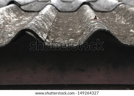Old  tile roof - stock photo