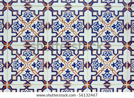 Old tiled Background - stock photo