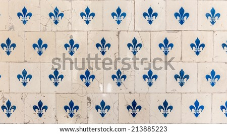 Old tiles with a design  - stock photo