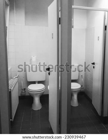 Old Toilet in Blackandwhite  - stock photo