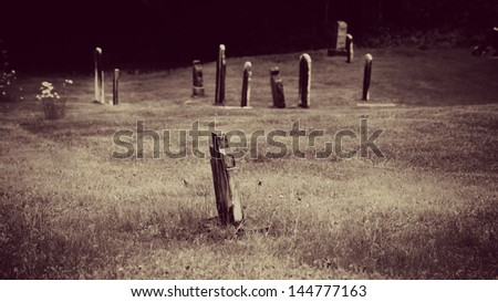 Old tombs in Anglican cemetery - stock photo