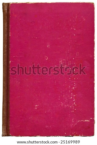 Old, torn and aged retro book cover. - stock photo