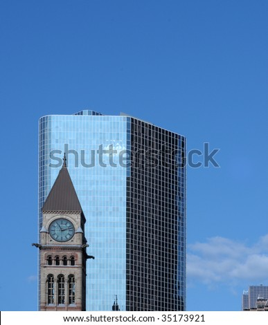 Old Toronto City Hall Tower - stock photo