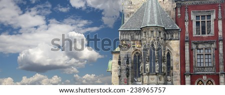 Old Town City Hall in Prague, Czech Republic  - stock photo