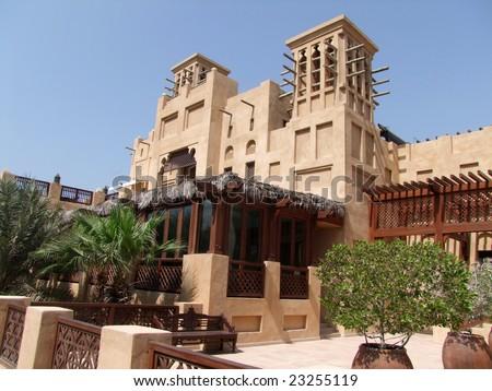 Old town Dubai - stock photo