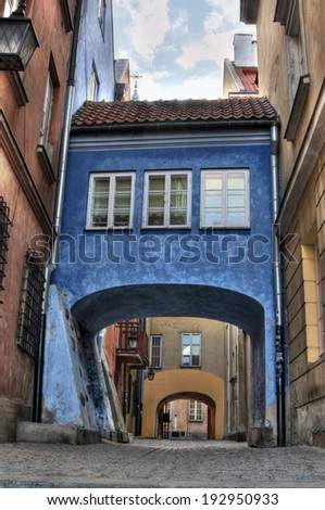 Old town gateway - stock photo