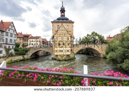 Old town hall in Bamberg, Germany - stock photo