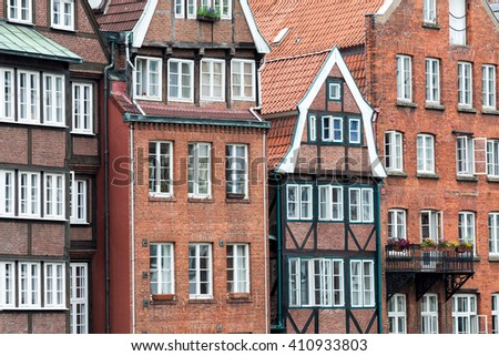 Old town in Hamburg - stock photo