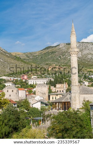Old town in Mostar - stock photo