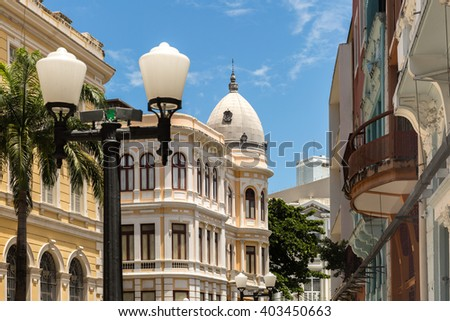 Old Town in Recife, located in Pernambuco State, Brazil - stock photo