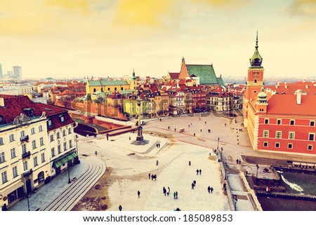 Old town in Warsaw - stock photo