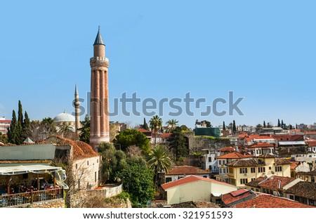 Old town (Kaleici) in Antalya, Turkey - stock photo