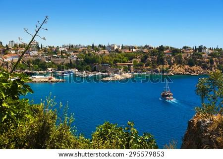 Old town Kaleici in Antalya Turkey - travel background - stock photo