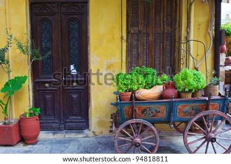 Old town of Chania/Crete/Greece - stock photo