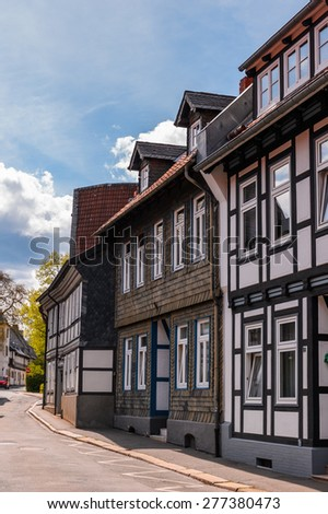 Old town of Gorlar, Lower Saxony, Germany. Old town of Goslar is a UNESCO World Heritage - stock photo