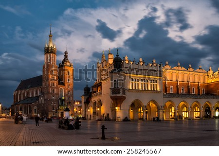 Old town of Krakow - stock photo