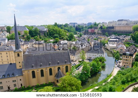 Old town of the City of Luxembourg - stock photo