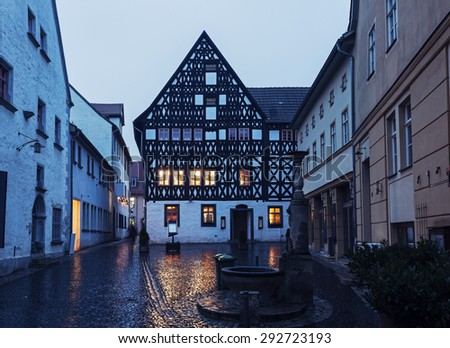 Old town of Weimar at sunrise. Weimar, Thuringia, Germany - stock photo