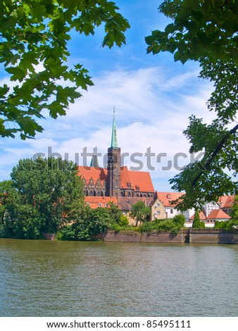 old town of Wroclaw (island Tumski), Poland - stock photo
