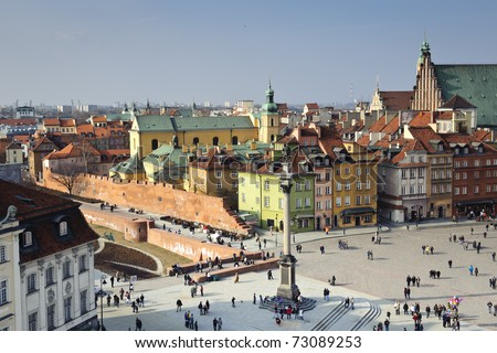 Old Town panoramic view, Warsaw, Poland - stock photo