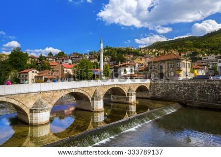 Old town Sarajevo - Bosnia and Herzegovina - architecture travel background - stock photo