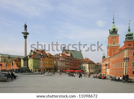 Old town, Warsaw - stock photo
