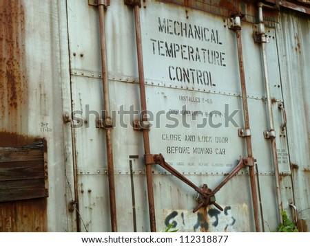 old train door - stock photo