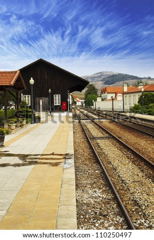 old train station - stock photo