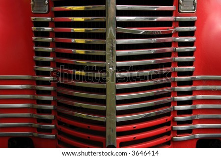 Old Truck Grill - stock photo