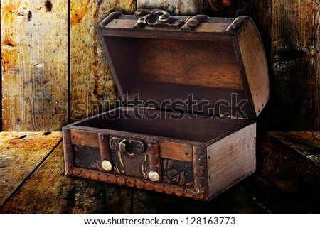 old trunk - stock photo