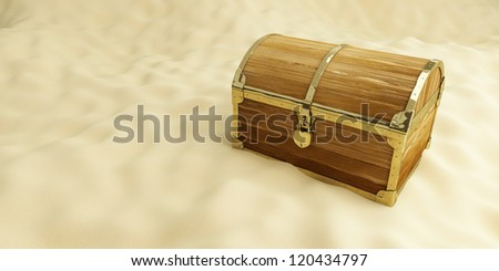 old trunk on the beach, on a background of sand - stock photo
