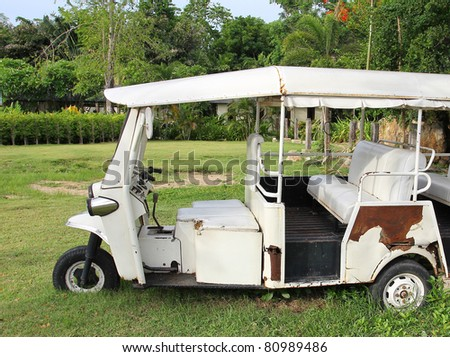 Old Tuk Tuk Thailand Car Scooter. - stock photo