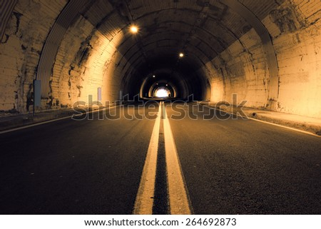 Old tunnel  - stock photo