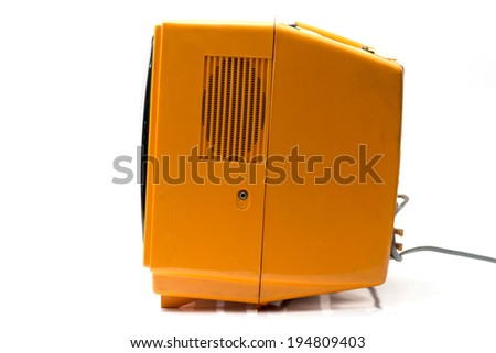 Old TV, side view. - stock photo