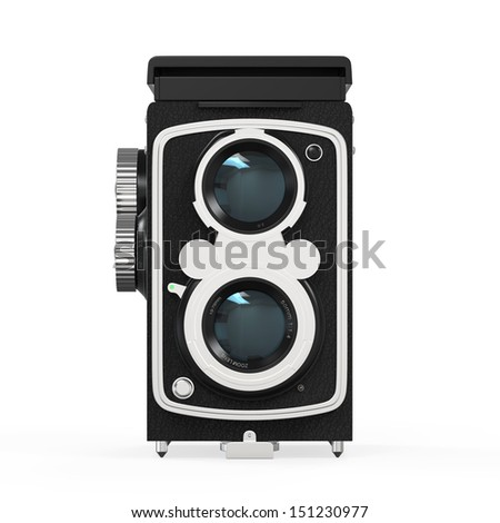 Old Twin Lens Camera - stock photo