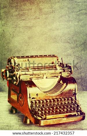 Old typewrite. - stock photo