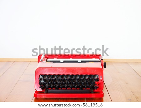 Old typewriter - stock photo