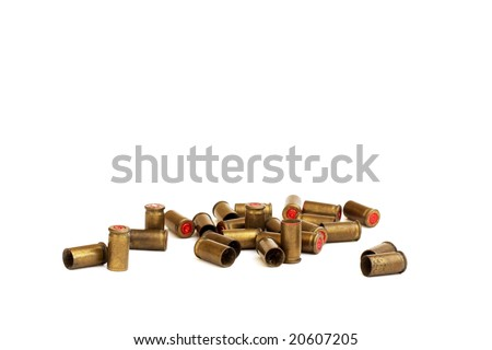 Old used bullets (isolated) - stock photo