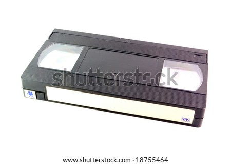 Old VHS tape isolated on white background - stock photo
