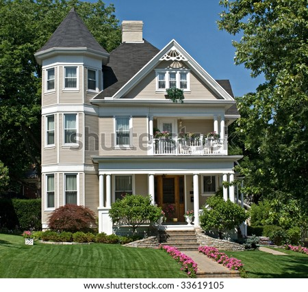 Old Victorian House - stock photo