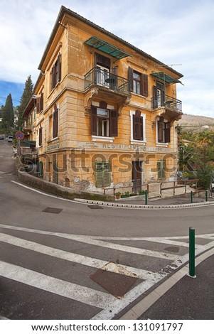 old villa in Opatija, Croatia. - stock photo