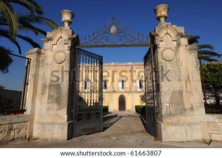old villa in Sicily - stock photo
