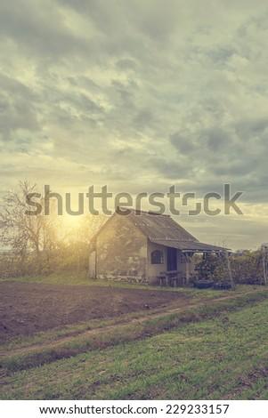 Old village house - stock photo