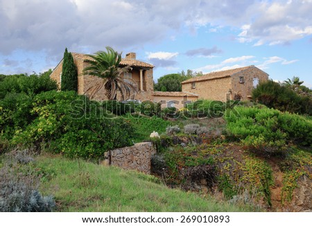 Old village house in Provence, France - stock photo