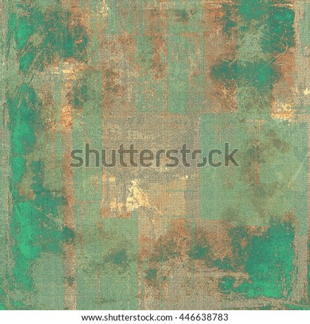 Old vintage backdrop. Original background or aged texture with different color patterns: yellow (beige); brown; gray; green; cyan - stock photo